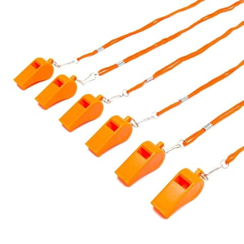 "24x Sports Safety Dog Whistle with Lanyard for Coaching Outdoors 1.7 x 0.7"" - Orange"