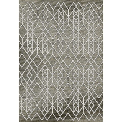 Rodelle Neutral Geo Outdoor Rug by Havenside Home