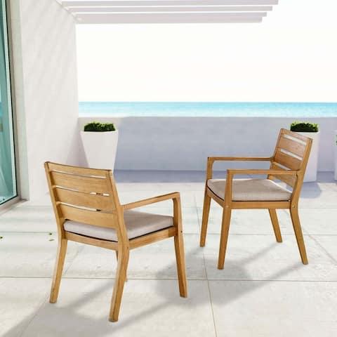 Portsmouth Outdoor Patio Karri Wood Armchair Set of 2