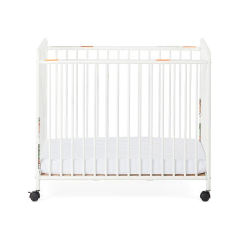 Child Craft Siesta Metal Non-Folding Slatted Compact Crib