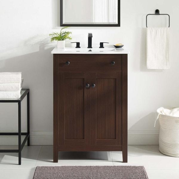 "Nantucket 24"" Bathroom Vanity Cabinet (Sink Basin Not Included). Opens flyout."