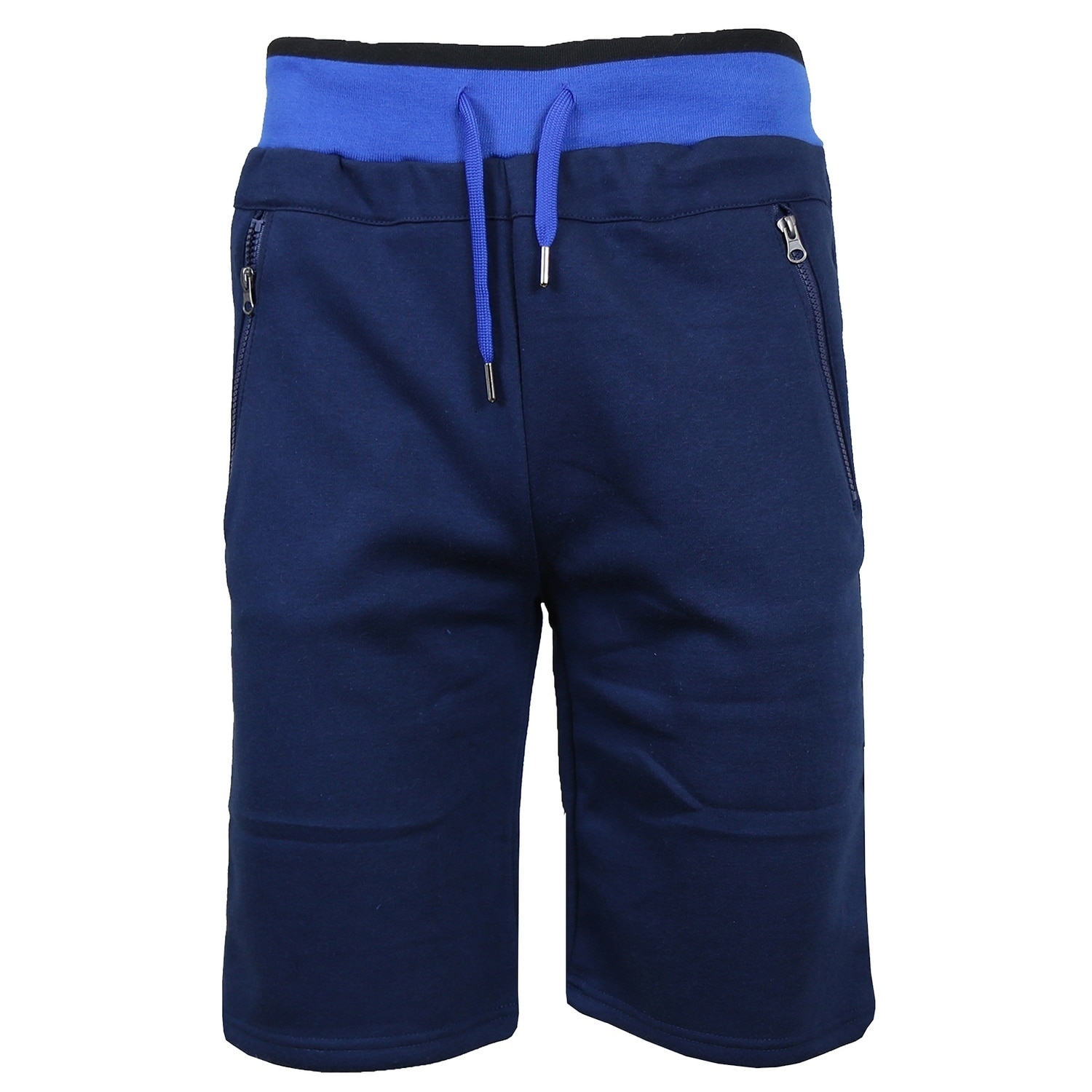 jogger shorts zip pockets