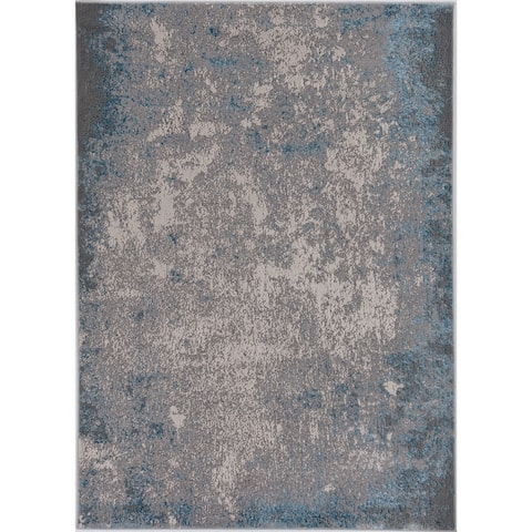 Silver Orchid Monel Natural Contemporary Rug