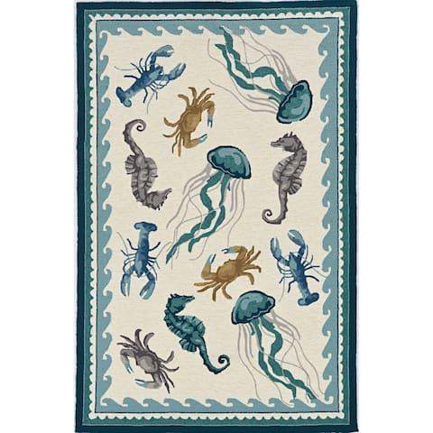 Stonely Sealife Handmade Rug by Havenside Home