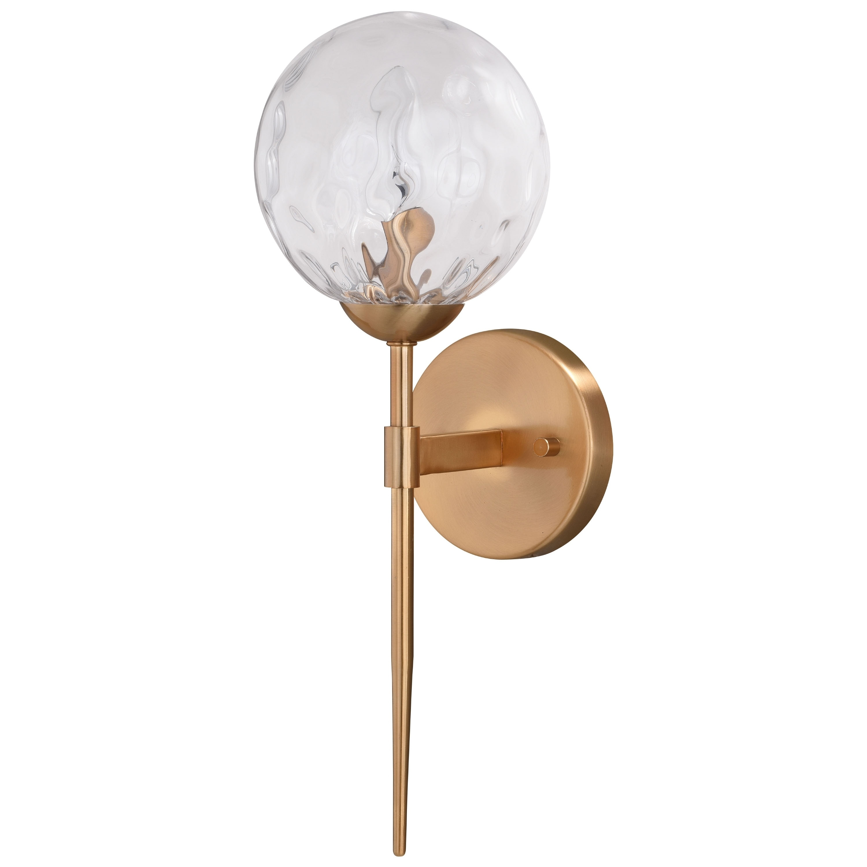 Picture of: Shop Black Friday Deals On Olson 1 Light Brass Mid Century Modern Wall Sconce Clear Globe Glass 6 In W X 16 5 In H X 7 In D Overstock 31040938