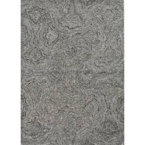 Carbon Loft Streaya Natural Granite Handmade Wool Rug