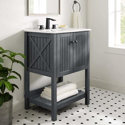 "Steam 23"" Bathroom Vanity Cabinet (Sink Basin Not Included)"