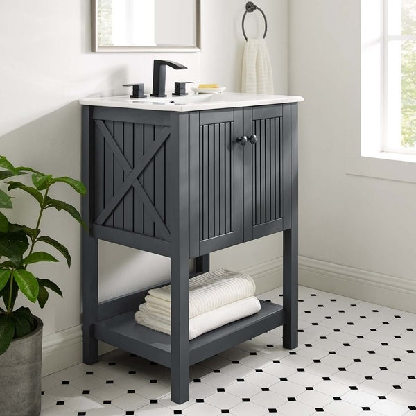 "Steam 23"" Bathroom Vanity Cabinet (Sink Basin Not Included). Opens flyout."