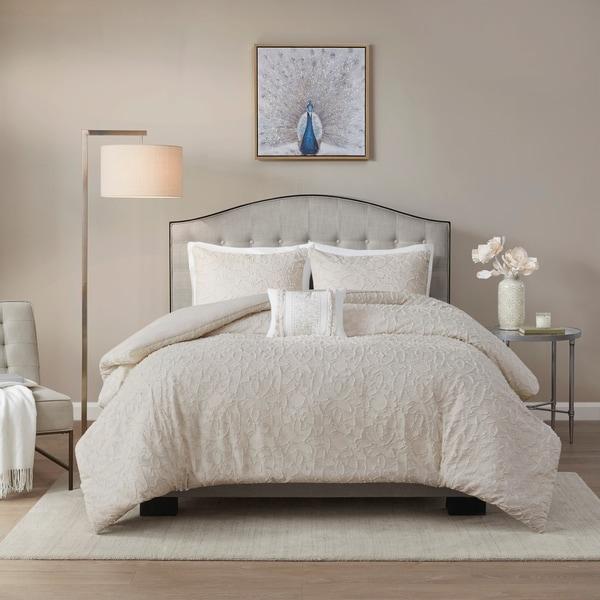 Madison Park Lydia Light Taupe Cotton Comforter Set. Opens flyout.