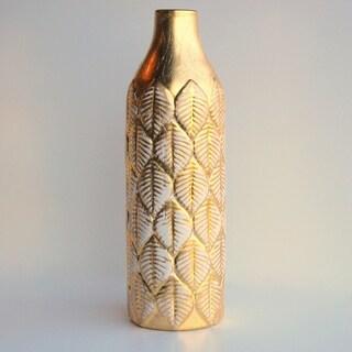 """FOLIO Gold Gilded 12"""" Ceramic Vase"""