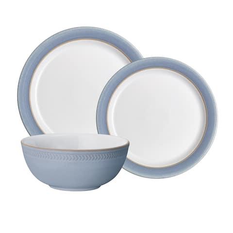 Natural Denim 12PC Dinnerware Set