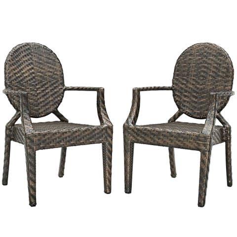 Casper Outdoor Patio Dining Armchair Set of 2