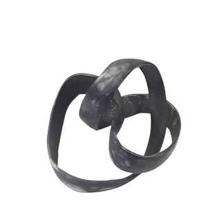 "Link to Aluminum Knot Sculpture, 7"", Black Similar Items in Accent Pieces"