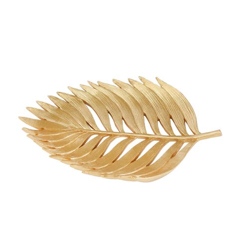 "Polyresin 12"" Palm Leaf Decoration, Gold"