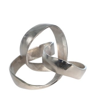 "Link to Aluminum Knot Sculpture, 7"", Silver Matte Similar Items in Accent Pieces"