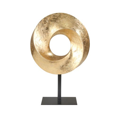 "Resin 21"" Circle Table Top Decor, Gold"