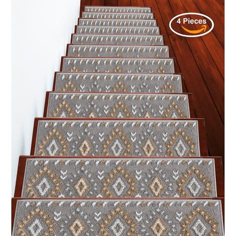 """SUSSEXHOME Traditional Collection Stair Treads Polypropylene 9""""x28"""""""