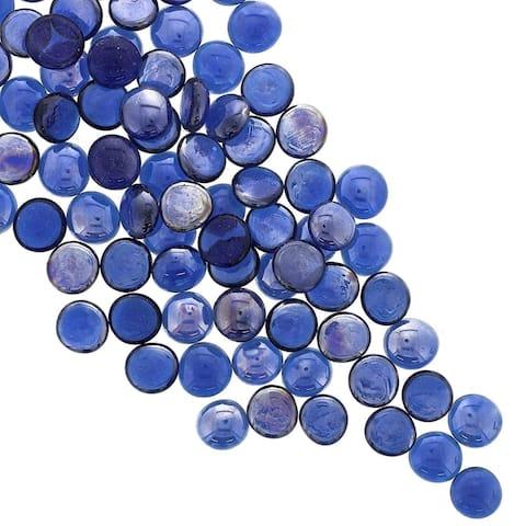 400Pcs Garden Blue Pebbles Glass Gems for Vase Fillers Aquarium Décor Party Decoration DIY Crafts