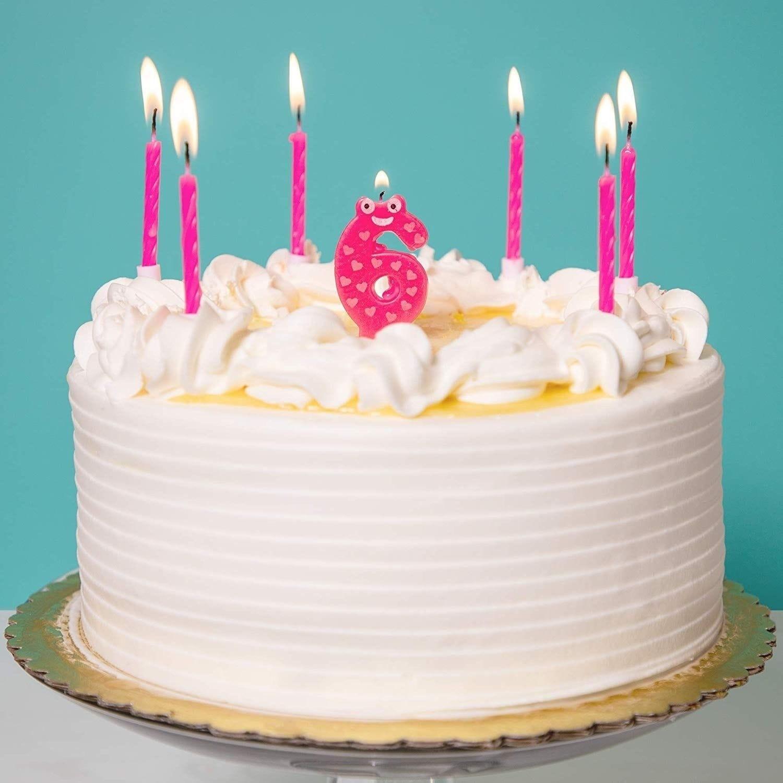 Sensational Shop 154X Pink Short Cake Candles W Holder Birthday Cake Candle Funny Birthday Cards Online Elaedamsfinfo