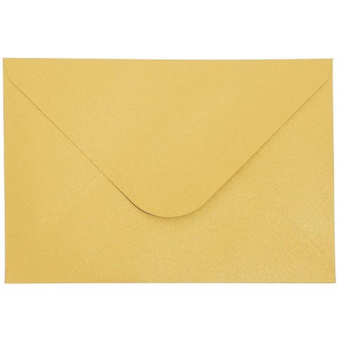 """24x Gold Shimmer Lace Wedding Invitations with Envelopes for Showers 5 x 7.25"""""""
