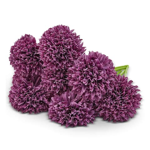 8 Pack Purple Artificial Hydrangea Fake Flowers for Floral Party Decoration