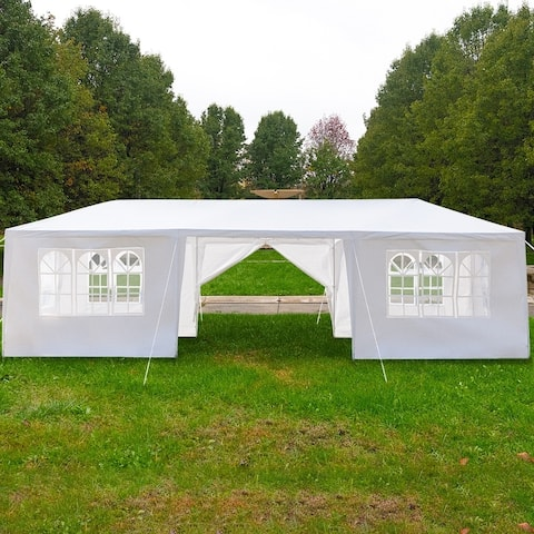 3 x 9m Eight Sides Two Doors Waterproof Tent with Spiral Tubes - 8 Sides-2 Doors
