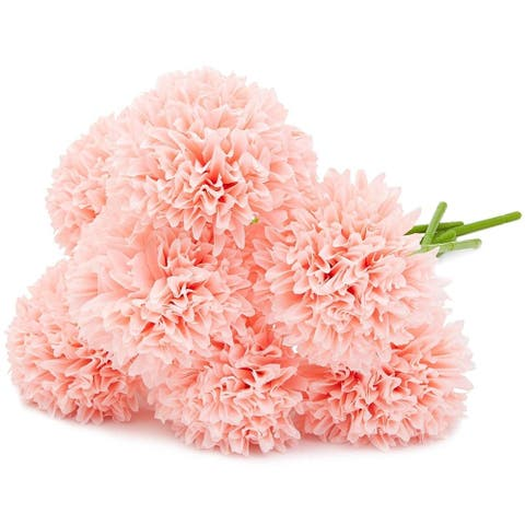 8 Pack Light Pink Silk Artificial Hydrangea Fake Flowers for Floral Decoration