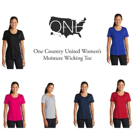 One Country United Women's Moisture Wicking Tee