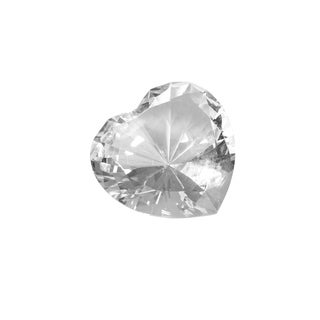 "Link to Glass Heart Diamond, Clear, 4"" Similar Items in Accent Pieces"