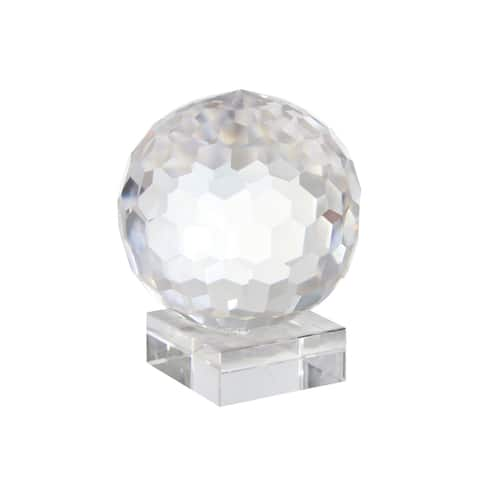 Crystal Orb On Base 6""