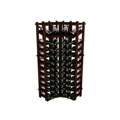 Winemaker Series Wine Rack - Individual Bottle Wine Rack - Curved Corner Bottom Stack with Display