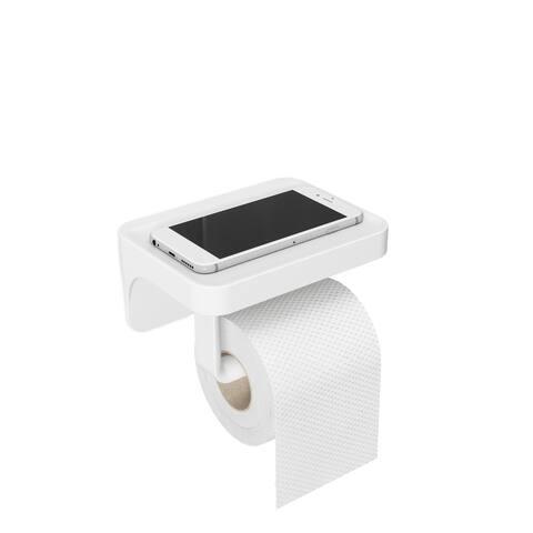 Flex Sure-Lock Toilet Paper Holder /Shelf White