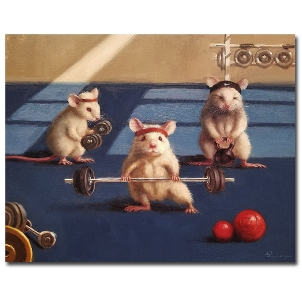 Gym Rats by Lucia Heffernan Gallery Wrapped Canvas Giclee Art (11 in x 14 in). Opens flyout.