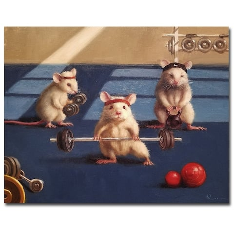 Gym Rats by Lucia Heffernan Gallery Wrapped Canvas Giclee Art (11 in x 14 in)