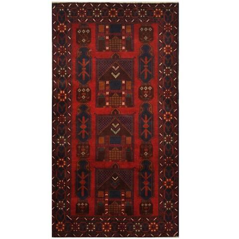Handmade One-of-a-Kind Balouchi Wool Rug (Afghanistan) - 3'6 x 6'4