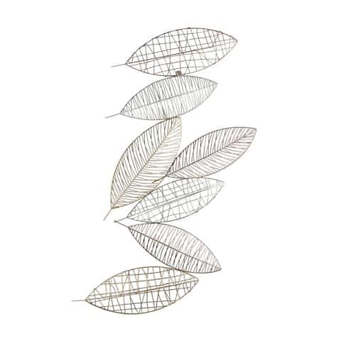 """Metal 38.25"""" Leaf Wall Decor, Multi, Wb"""