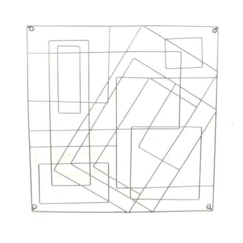 "30"" Abstract Metal Wall Decor, Silver, Wb"