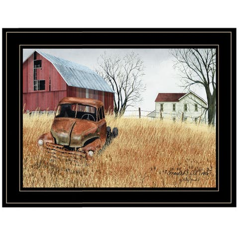 """Granddad's Old Truck"" By Billy Jacobs, Ready to Hang Framed Print, Black Frame"