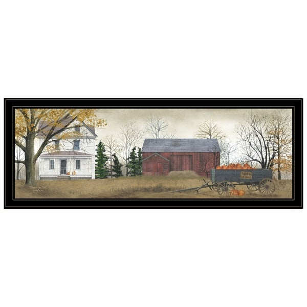 """""""Pumpkins for Sale"""" By Billy Jacobs, Ready to Hang Framed Print, Black Frame. Opens flyout."""