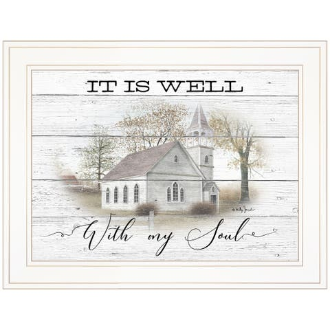 """""""It Is Well"""" By Billy Jacobs, Ready to Hang Framed Print, White Frame"""
