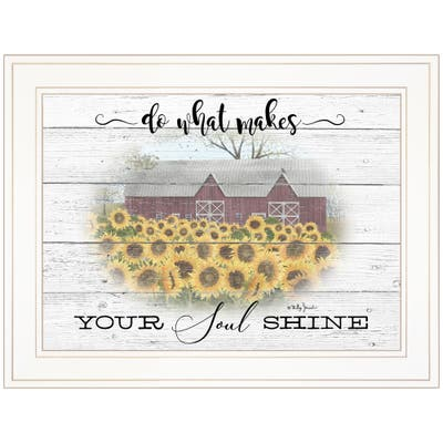 """""""Do What Makes Your Soul Shine"""" By Billy Jacobs, Ready to Hang Framed Print, White Frame"""