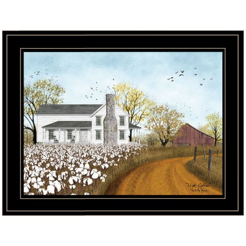 """""""High Cotton"""" By Billy Jacobs, Ready to Hang Framed Print, Black Frame"""