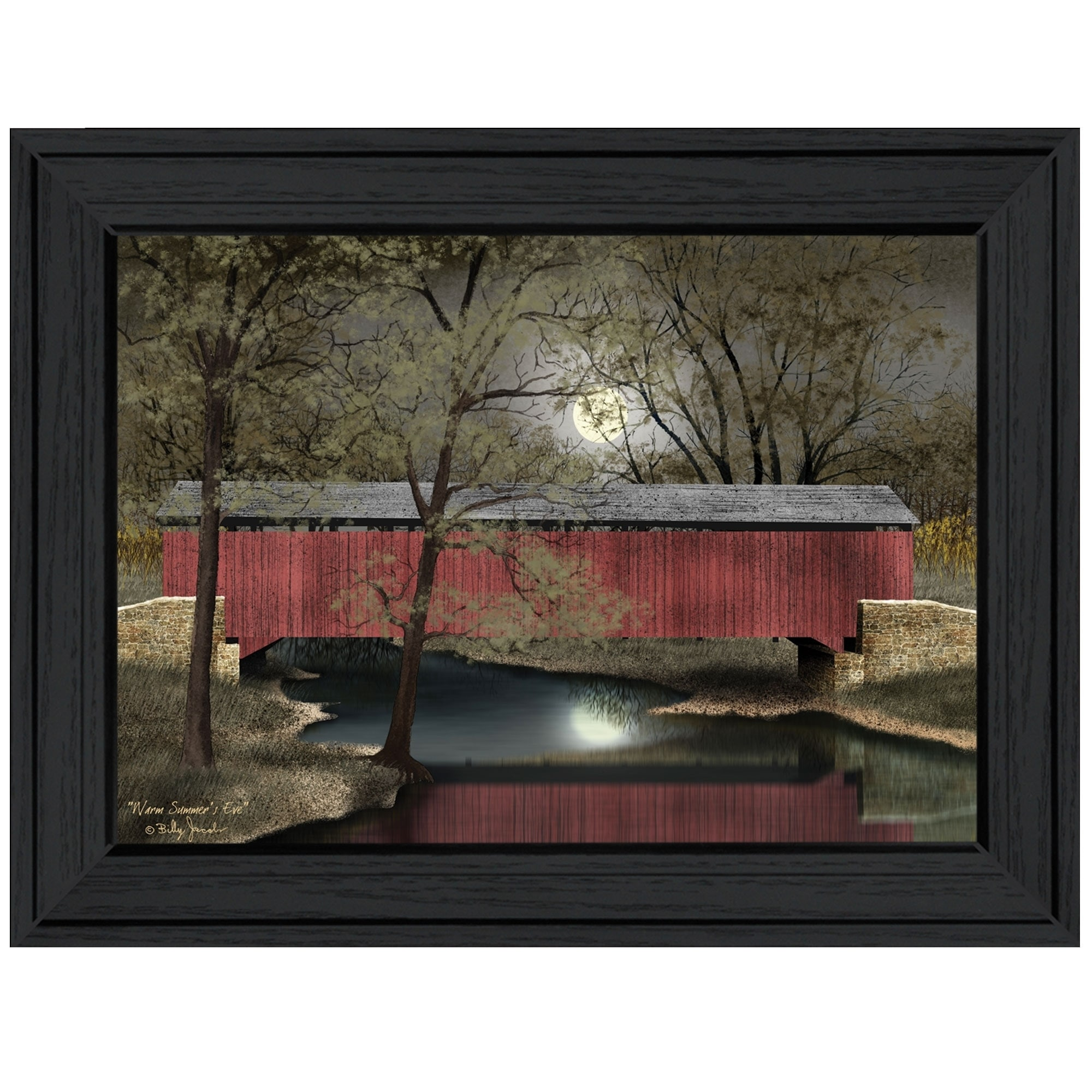 """/""""Warm Summer/'s Eve/"""" By Billy Jacobs Hangd Print Black"""