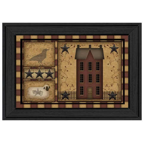 """""""Primitive Shadowbox"""" By Carrie Knoff, Ready to Hang Framed Print, Black Frame"""