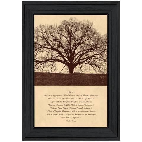 """Life Is"" By John Jones, Ready to Hang Framed Print, Black Frame"