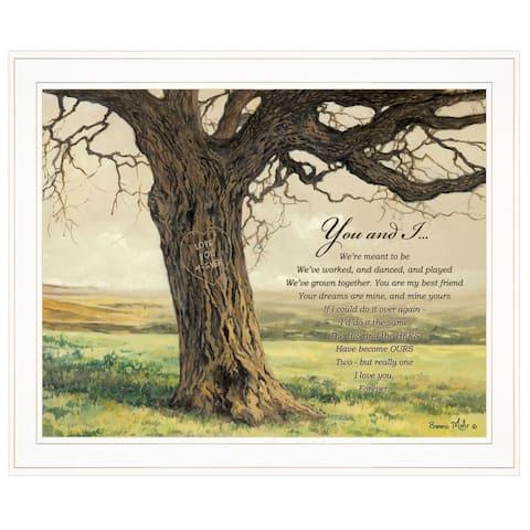 """Forever"" By Bonnie Mohr, Ready to Hang Framed Print, White Frame"