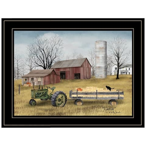"""Hayride"" By Billy Jacobs, Ready to Hang Framed Print, Black Frame"