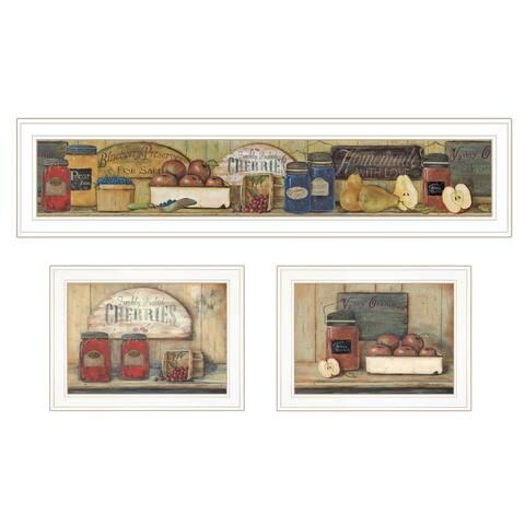 """Country Kitchen"" 3-Piece Vignette By Pam Britton, White Frame"