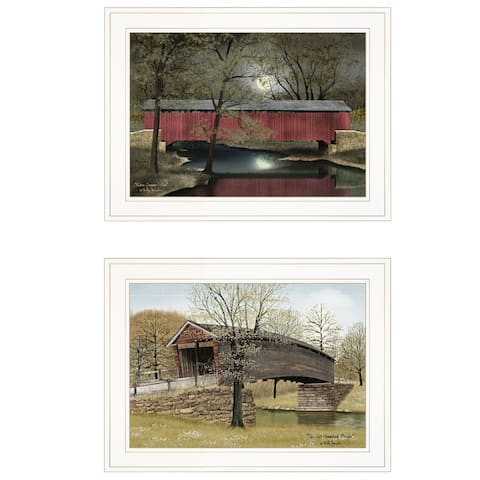 """""""Bridges"""" Vignette of 2-piece By Billy Jacobs, White Frame"""