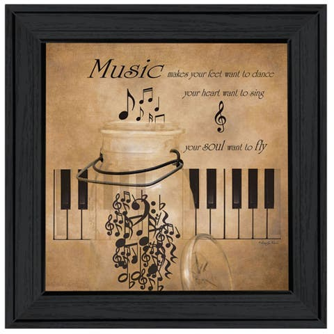"""Music"" By Robin-Lee Vieira, Ready to Hang Framed Print, Black Frame"